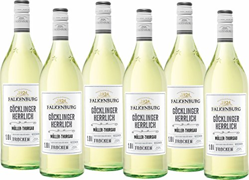 Falkenburg Müller Thurgau Göcklinger Herrlich Weißwein trocken QbA (6 x 1 l)