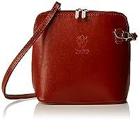 Girly HandBags V155_lighttan Genuine Leather Rigid Cross Body Shoulder Bag, Light Tan
