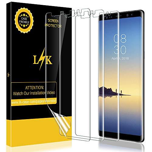KundL LK [3 stück] Schutzfolie für Samsung Galaxy Note 8 (Premium-Qualität) Bildschirmschutzfolie Anti-Bubble [volle Abdeckung] HD Klar Folie [Lebenslange Ersatzgarantie]