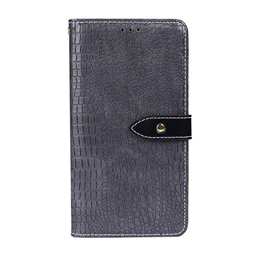 Xiaomi Redmi 5 Plus Case Flip, Fancart Cover Suit Premium Vertical Leather Pouch Sleeve Carrying Case Series with Card Slot for Xiaomi Redmi 5 Plus (Grey) Vertical Slim Case