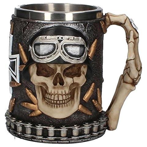 Gothic and Fantasy Iron Cross Skull Tankard