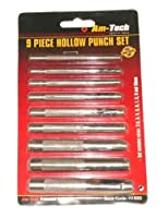 Am-Tech Hollow Punch Set (9 Pieces)