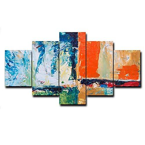 HXZFF Quadro 150x80 cm 5 Pezzi Stampa su Tela in Immagini Moderni Murale Fotografia Grafica Decorazione da Parete AstrattoPittura a Olio Astratt