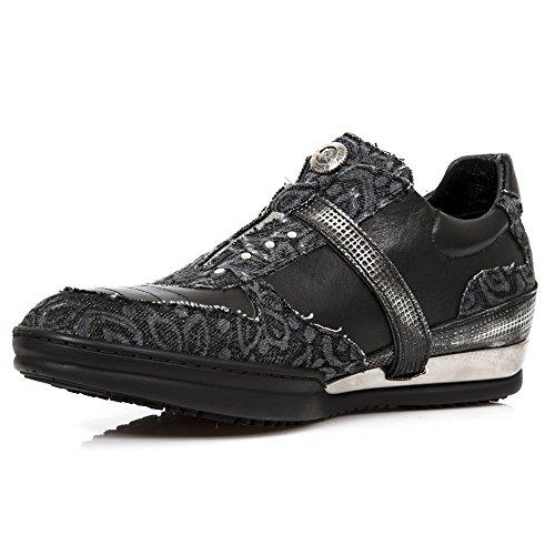 New Rock M.HY031-S7 Alle Stiefel aus Leder Black