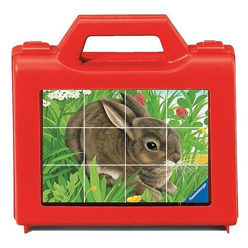 Ravensburger - Animales, Cubos de 12 Piezas (07412 9)
