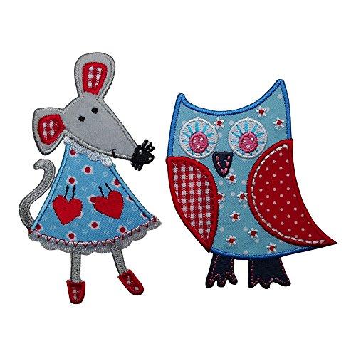 1 cm Aufbügler Aufnäher Bügelbild Bügelmotiv Stoff Kleid Patch Applikation Aufbügeln Personalisieren Kind (Wie Hält Man Mäuse)