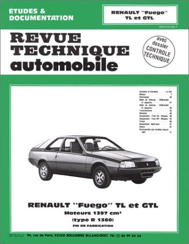 Revue technique de l'Automobile : Renault Fuego TL et GTL, moteurs 1397 cm3s : type R 1360, fin de fabrication
