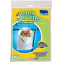 Bolsa de pinzas, cesta para las pinzas de la ropa de colores variados, cesta de pinzas de la ropa colgando, cesta, con pinzas de la ropa, ganchos de arte. 289 Parodi&Parodi
