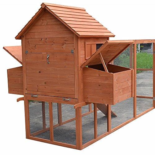 Hühnerstall / Hühnerhaus mit Freigehege aus Holz ca. 310 x 150 x 150 cm - 3