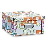 Aufbewahrungsbox Pappe L Letters 17673 Aufbewahrungskiste