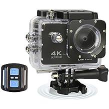 Ultra HD deportes acción cámara 4K 1080P impermeable Cámara de acción con 2.0pulgadas LCD de lente 170° gran angular DV Wifi vídeo Digital videocámara con mando a distancia apoyo 64GB Micro tarjeta SD