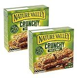 Barres de céréales croquantes Nature Valley 100% à l'avoine et au miel sans colorants sans conservateurs Naturellement sans lactose Convient aux végétariens - 2 x 210 grammes (2 x 10 bars)