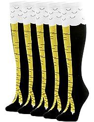 Knee High Socks, Gmark Womens' Cute Students Athlete Deadlift Socks--5 Pack Size Medium