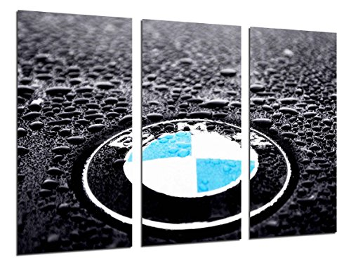 Cuadro Moderno Fotografico Logo BMW, Simbolo BMW, Coches, Motos, 97 x 62 cm, Ref. 26472