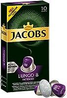 Jacobs Kapseln Lungo Intenso - Intensität 8 - 50 Nespresso®* kompatible Kaffeekapseln aus Aluminium (5 x 10 Kapseln)