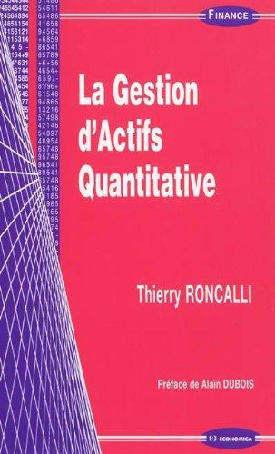 La gestion d'actifs quantitative par Thierry RONCALLI