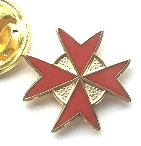 Knights di Malta Massonico Massone Rosso Distintivo Spilla Smaltata