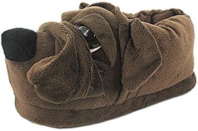 New Mens/Gents Brown Novelty Full Dog Slippers. The Perfect Ideal Gift - Brown - UK SIZE 11