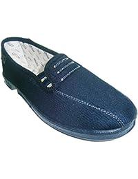 Zapatilla plana con gomas a los lados muy cómodas Doctor Cutillas en azul marino