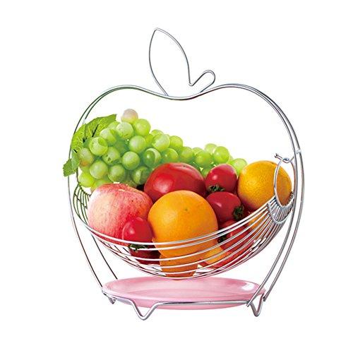 Dsaqao cesto frutta grande in acciaio inox, espositore frutta ciotola scarico cesto cucina & tavolo da pranzo cestello-c