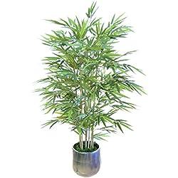 e-flor made man Bambú artificial con cañas naturales. Ideal para decoración de hogar, Materiales de alta calidad (105 cm)