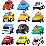 BBLIKE 12 Pièces Mini Véhicules Modèles Jeu de Jouets Educatifs Cadeau pour Enfants