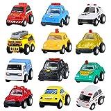 BBLIKE Mini Spielzeugautos Fahrzeugmodell Spielzeug-Autos 12er Geschenkset - Fahrzeug spielen Lkw früh pädagogischen für Kinder ab 3 jahren