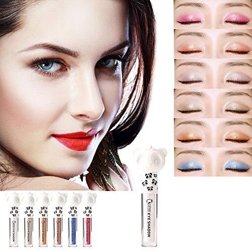 Fard à Paupière,LHWY Maquillage cosmétique de poudre de fard à paupières mat Metallic Brillant Unique Forme Eyeshadow Eyesiner Liquide Glitter