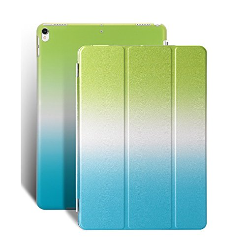 QinMM Hülle für ipad Pro 10.5 Zoll Tablet, robuste, Kratzfeste Standfuß-Schutzhülle (Ipad-feuer)