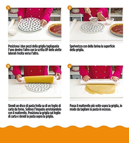 comprare on line DECORA 0215801 Griglia Tagliapasta per Crostate Cuori, Bianco prezzo