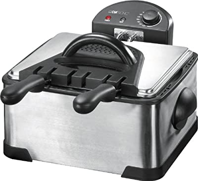 Clatronic Friteuse Inox 2 cuves 4 L 2000 W