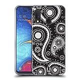 Head Case Designs Schwarz Paisley Muster Serie 2 Soft Gel Huelle kompatibel mit Samsung Galaxy A20e (2019)