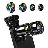 f62944f59d7 AFAITH Kit de lentes de cámara HD universales 5 en 1 Lente de teléfono  celular,