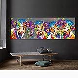 OFVV Couleur de la Vache Art Peinture Murale sans Cadre Peinture décorative Toile appropriée pour Salle de séjour Chambre Enfants décoration Peinture à l'huile de Base,40 * 120cm