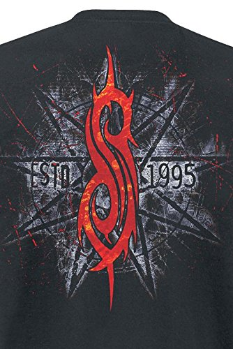 Slipknot Star Skull T-Shirt nero Nero