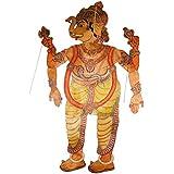 Veeranjaneyulu Leather Art Work Lord Vinayaka's Puppet (60 cm x 0.1 cm x 152 cm, 14 Pieces)
