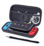 PRICED TO CLEAR (COST PRICE) - Premium Portable Protective Carry Case Shell for Nintendo Switch Console,- Moulded EVA Outer Hard Travel Carry Case Pouch with Anti-Scratch Cotton Lining & Storage for 8 Games plus 2 Controllers