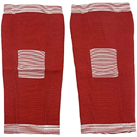 Coppia di elastico ultrasottile Knee Support manica Brace Ginocchiere Knee