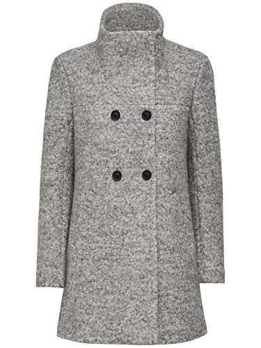 ONLY Damen Mantel Onlsophia Noma Wool Coat CC Otw Noos, Grau (Light Grey Melange), 38 (Herstellergröße: M)