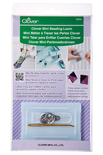Clover Mini-Perlenwebrahmen /VE3 Webrahmen, Kunststoff, Weiß, 22x12x2 cm