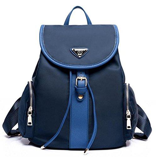 Y&F Kleiner Rucksack Reisetasche Schultertasche Nylontasche 34 * 16 * 30 Cm Blue