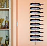 Scaffale vini Dies White 116cm in metallo per 10 bottiglie...