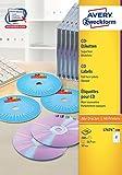 Avery Zweckform L7676-100 CD-Etiketten (A4, 200 Stück,  117 mm) 100 Blatt weiß