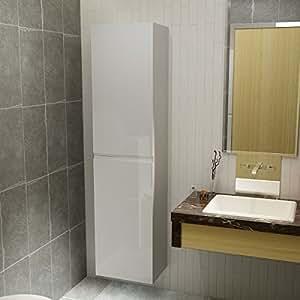 Beaubon 140 cm di altezza laccato bianco da bagno con for Armadio bagno bianco