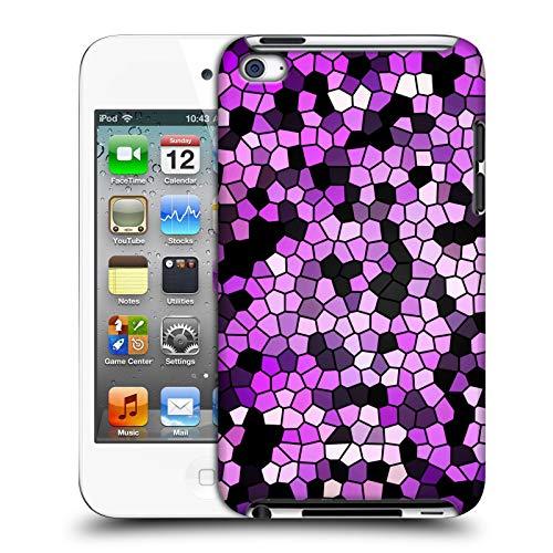 Head Case Designs Offizielle Catspaws Verschmutztes Glas Pupurrote Muster Harte Rueckseiten Huelle kompatibel mit Apple iPod Touch 4G 4th Gen