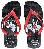 Havaianas Unisex-Erwachsene Looney Tunes Zehentrenner, Mehrfarbig (Black/Red 0172), 41/42 EU