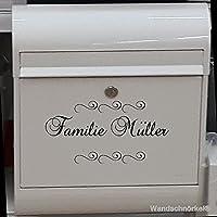 Namenaufkleber Namenschild universelle Einsatzmöglichkeiten...Haustür Briefkasten Wandtattoo Möbel Fliesen