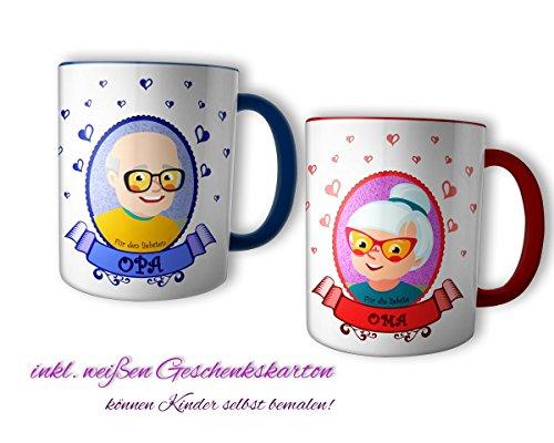 Geschenk für Oma und Opa die schönsten Oma & Opa Tassen im Set - Geschenk perfekte für Großvater und Großmutter, Oma Opa Tasse:Oma & Opa Tasse im Set