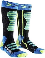 X-Socks Niños skistrumpf Junior, infantil, X-SOCKS SKI JUNIOR, Turquoise/Yellow