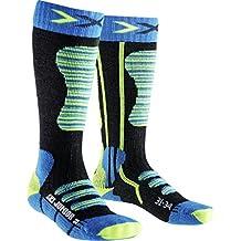 X-Socks Ski, Calze Unisex, Turchese/Giallo, 31/34